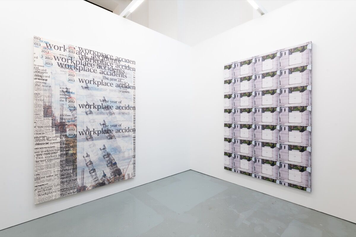 Heman Chong, installation view in Rossi & Rossi's booth at Unscheduled, 2020. © HKAGA. Photo by Felix SC Wong. Courtesy of Hong Kong Art Gallery Association.