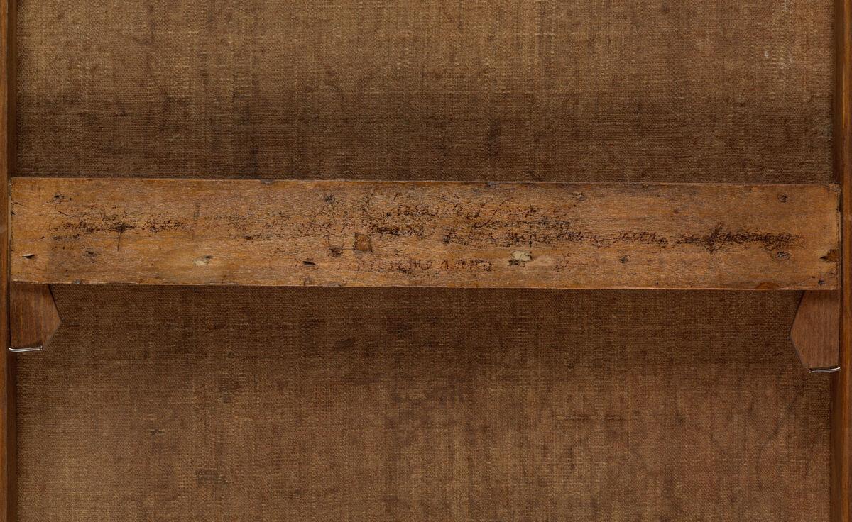 Verso of Carlo Dolci, Saint Philip Neri, 1645 or 1646. Courtesy of The Metropolitan Museum of Art.