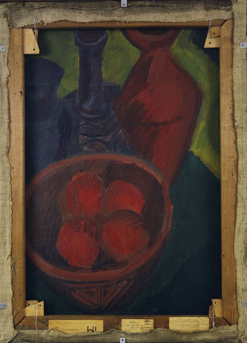 Ernst Ludwig Kirchner, Still Life with a Fruit Bowl (verso), 1914. Courtesy of Brücke-Museum.