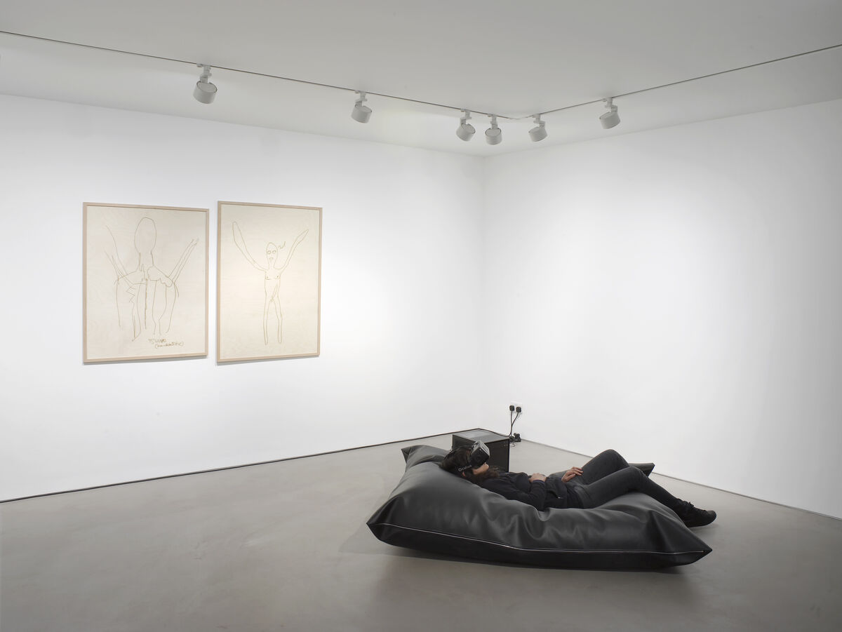 """Installation view of """"Sidsel Meineche Hansen: Second Sex War"""" at Gasworks, London. Photo by Andy Keate, courtesy of the artist and Gasworks."""