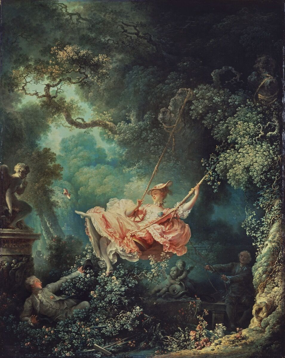 "Jean-Honoré Fragonard, Les Hasards Heureux de L'Escarpolette (""The Swing""), 1767. Courtesy of the Wallace Collection."