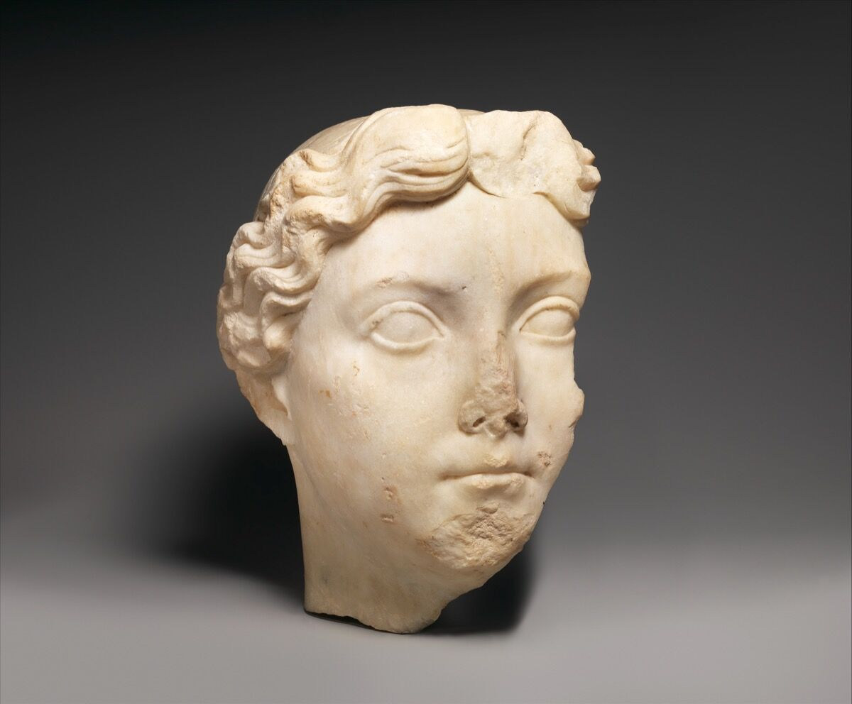 Marble portrait of Livia. c. 14-37 A.D. Courtesy of the Metropolitan Museum of Art.