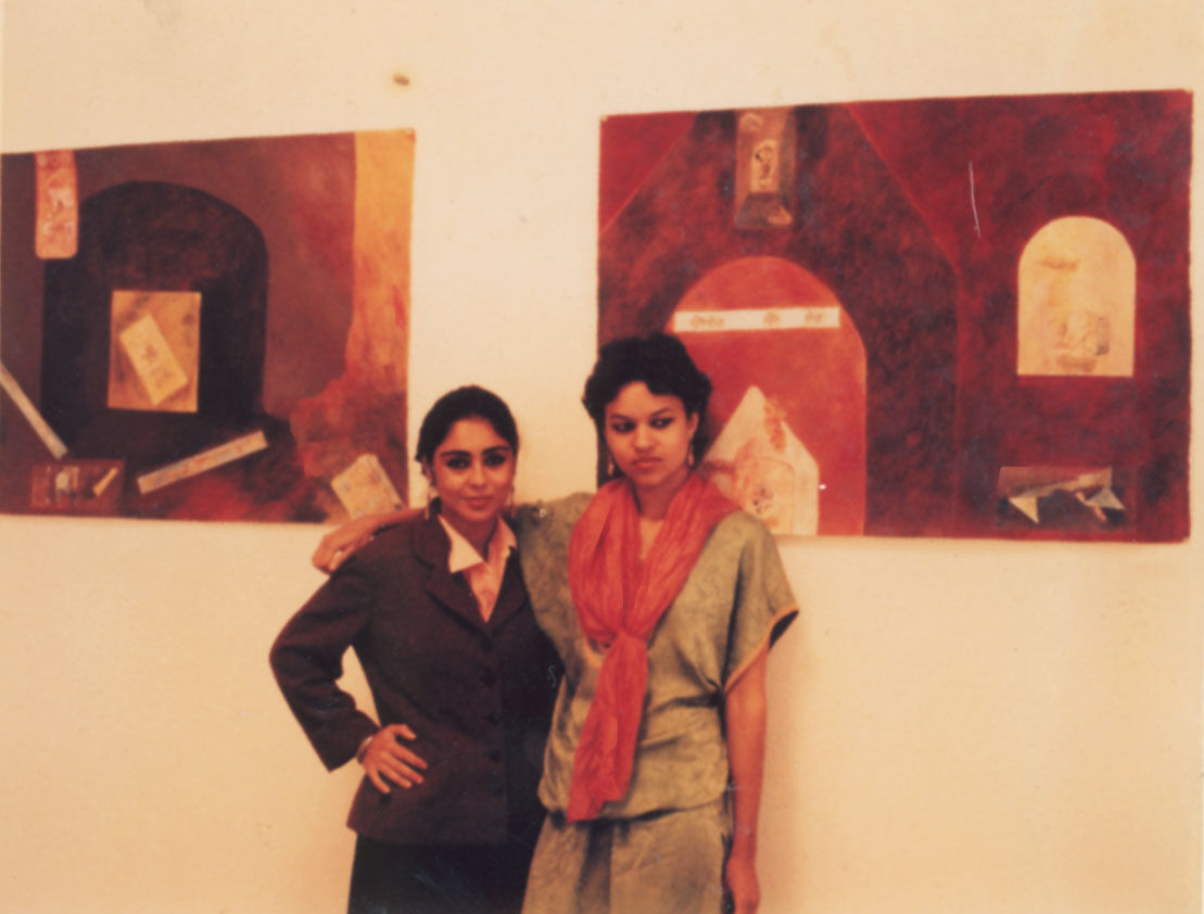 Shirin Neshat (left) at Berkeley circa 1979. Courtesy of the artist and Gladstone Gallery, New York and Brussels.