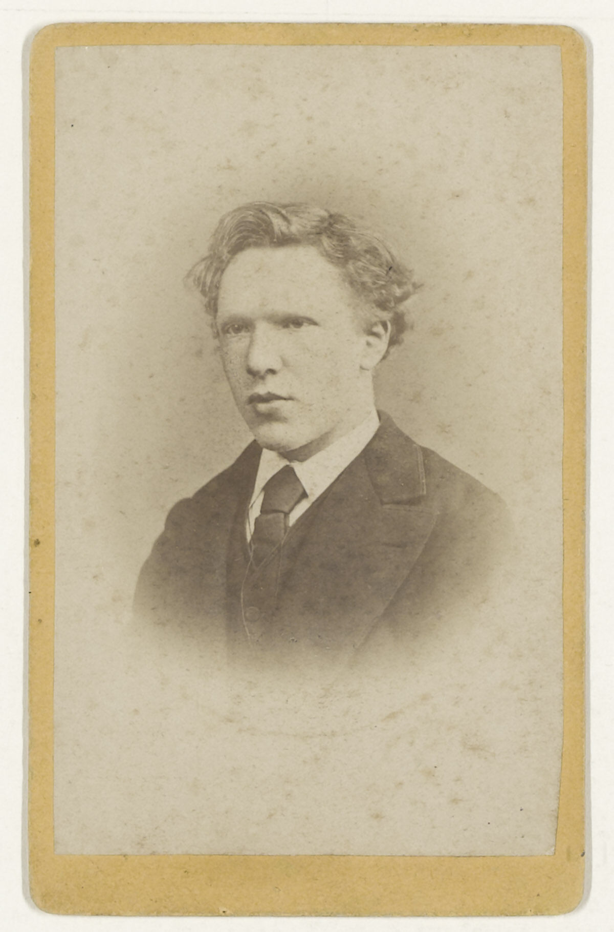 A portrait of Vincent van Gogh at age 19, taken in January 1873. Courtesy the Van Gogh Museum, courtesy Wikimedia Commons.