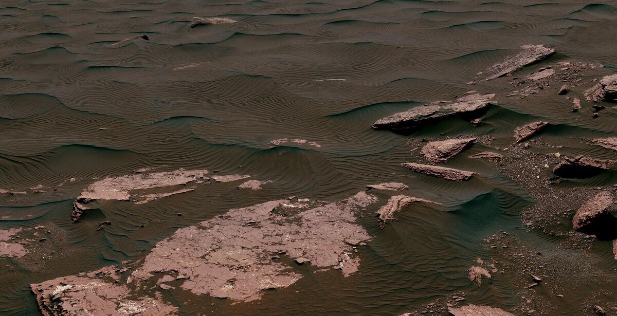 Bagnold Dune Ripples, 2017. Photo by Curiosity. © NASA/JPL-Caltech/MSSS.