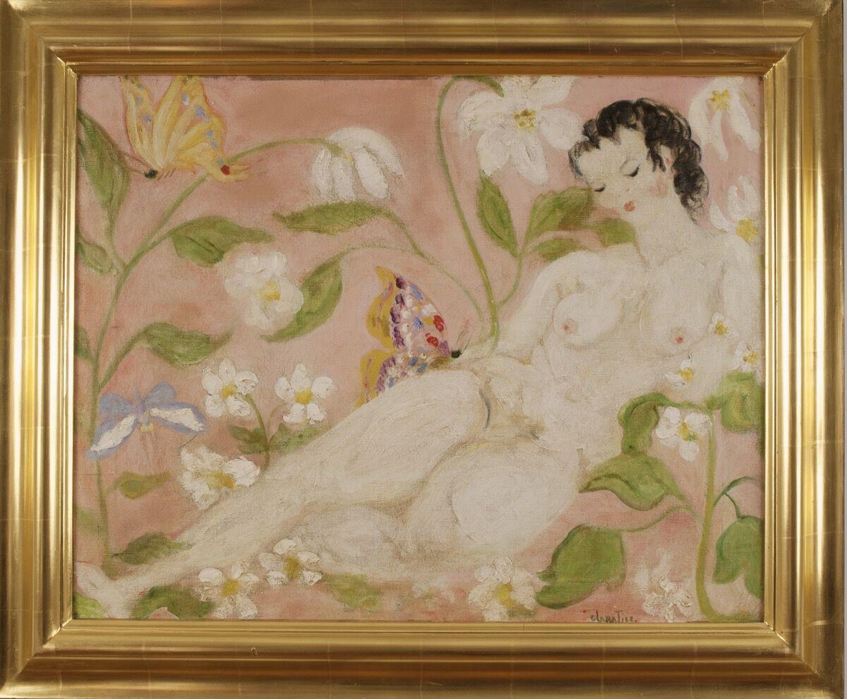 Clara Tice, Nude with Butterfly, n.d. Courtesy of Francis Naumann Fine Art.