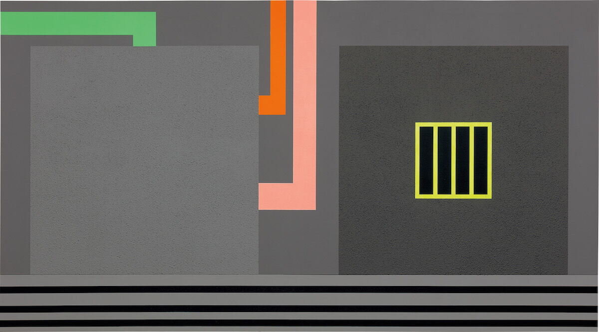 Peter Halley, Nowhere, 1992. Sold for $400,000. Courtesy Phillips.