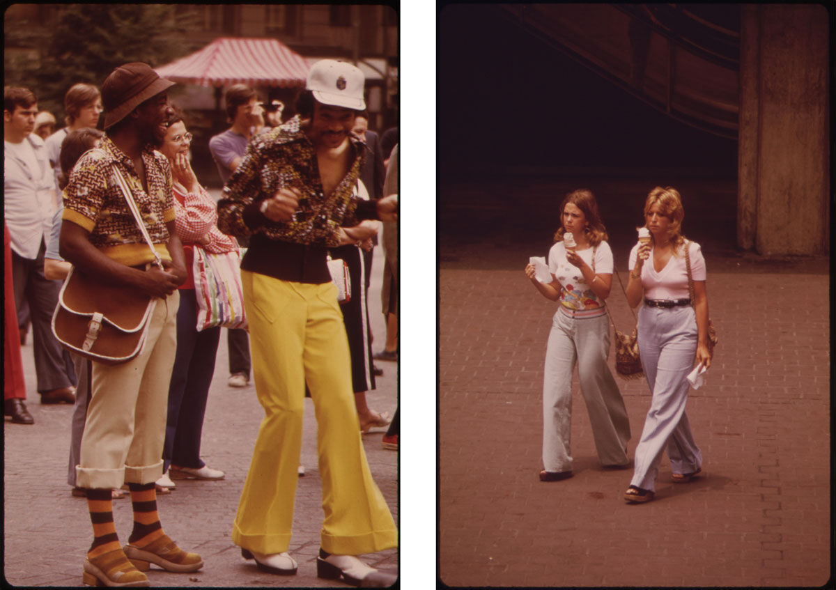 Left: Tom Hubbard, Far-Out Style Setters Groove to Music of Fountain Square Band 06/1973, 1973; Right: Tom Hubbard, Quick Snack in Fountain Square 06/1973, 1973. Images from the U.S. National Archives, via Flickr.