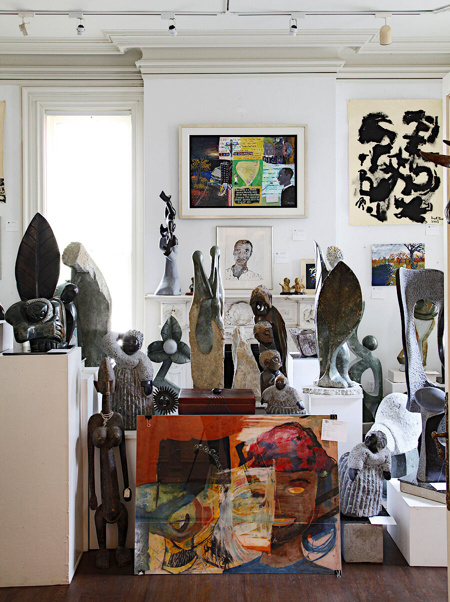 The David Barnett Gallery: Featured Exhibition Room (Including works by Reginald K. Gee and African Shona Sculptures)