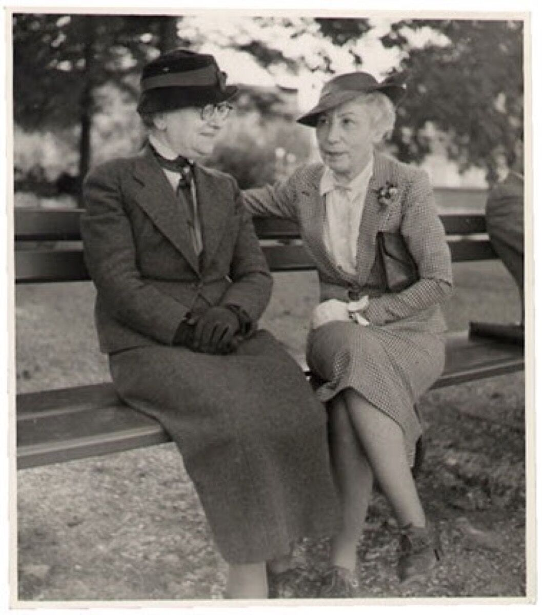 Berthe Weill and a friend, from the Berthe Weill Archive. Courtesy of Marianne Le Morvan.