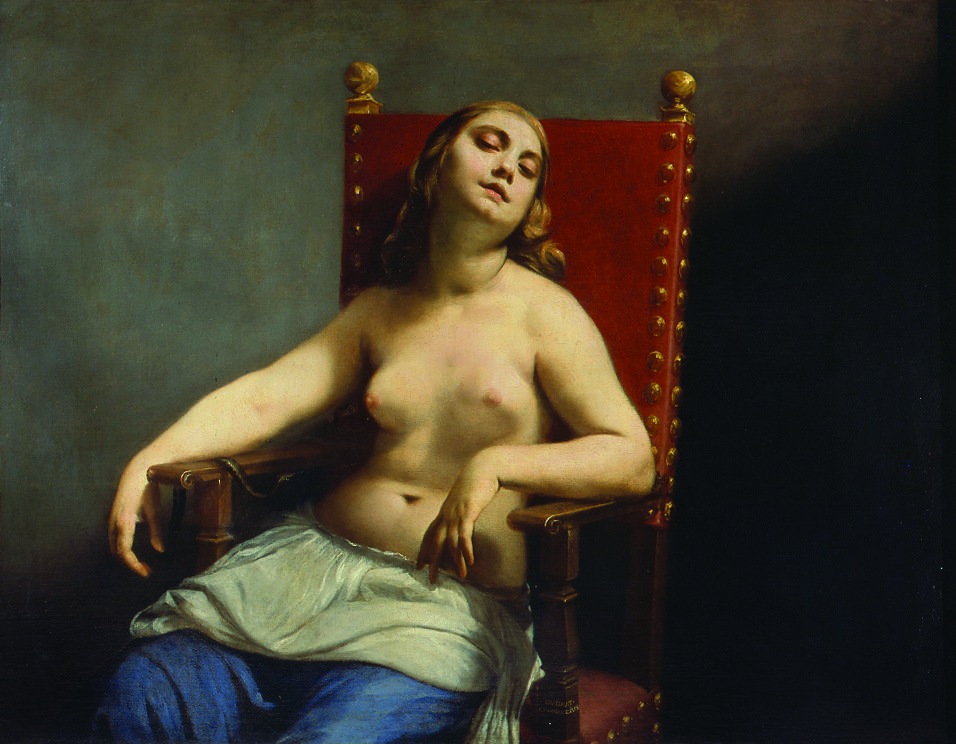 Guido Cagnacci, The Death of Cleopatra, circa 1660–62. Courtesy of Pinacoteca di Brera.