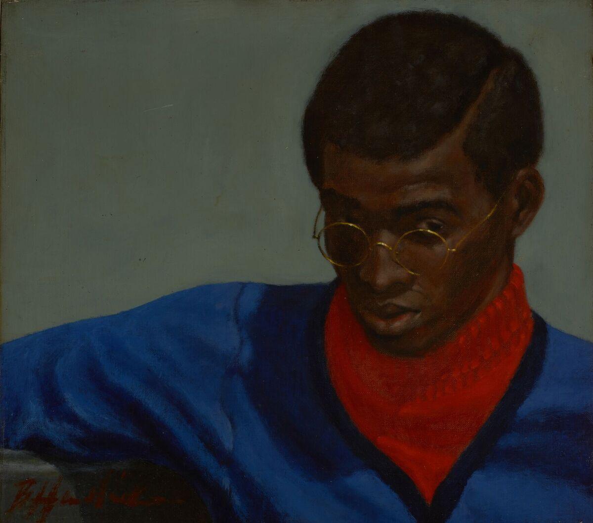 "Barkley L. Hendricks, ""Toast"" of Amos, 1966. Courtesy of Bowdoin College Museum of Art."