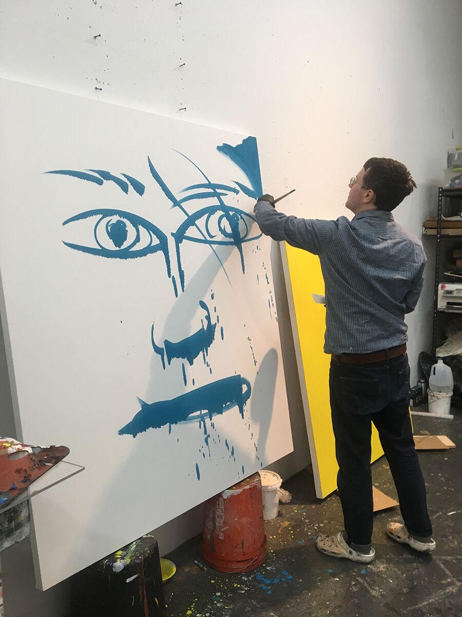 Stuart Lorimer in his studio. Photo by Emily Davidson. Courtesy of the artist.