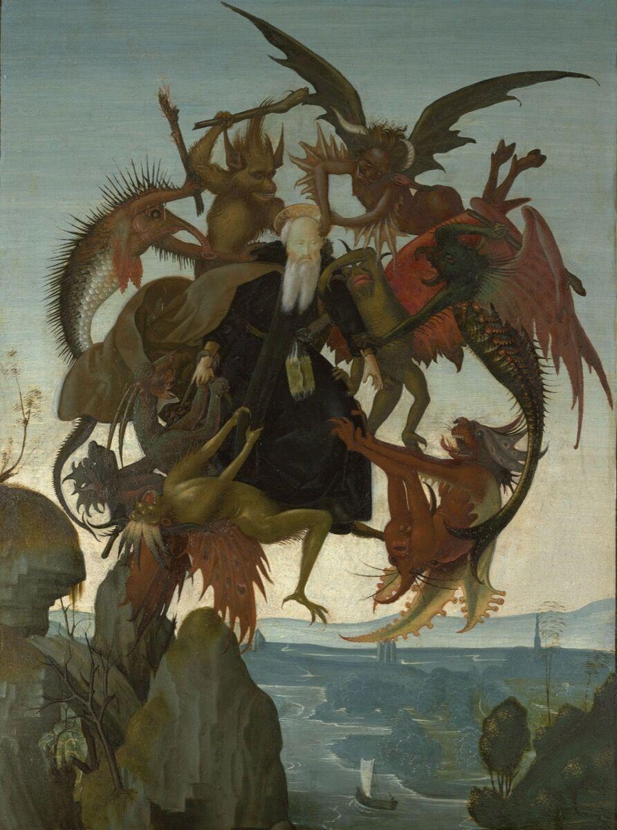 Michaelangelo Buonarroti, The Torment of Saint Anthony, ca. 1487-88. Courtesy of the Metropolitan Museum of Art.