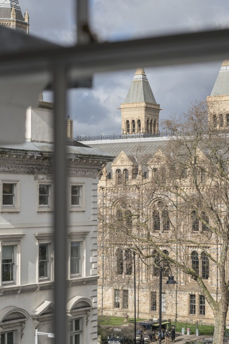 View of the Natural History Museum from an office at Cromwell Place. Courtesy of Cromwell Place.