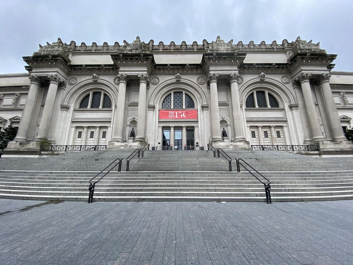 A view of The Metropolitan Museum of Art as it remains temporarily closed during the coronavirus pandemic. Photo by Rob Kim/Getty Image.