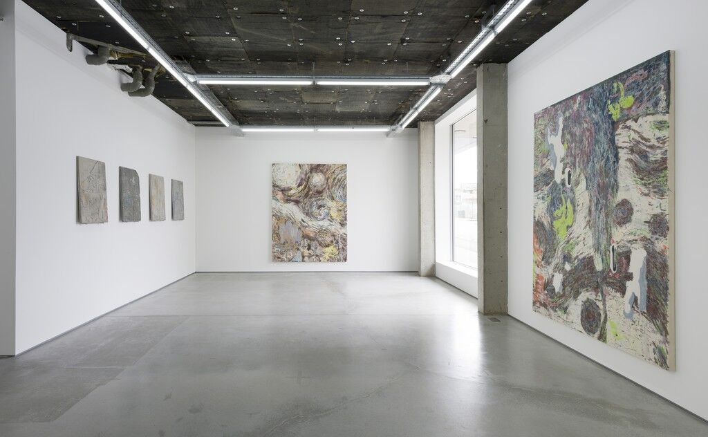 Installation view of Chris Hood & Carl Mannov at Rod Barton, London. Courtesy Rod Barton and the artists.