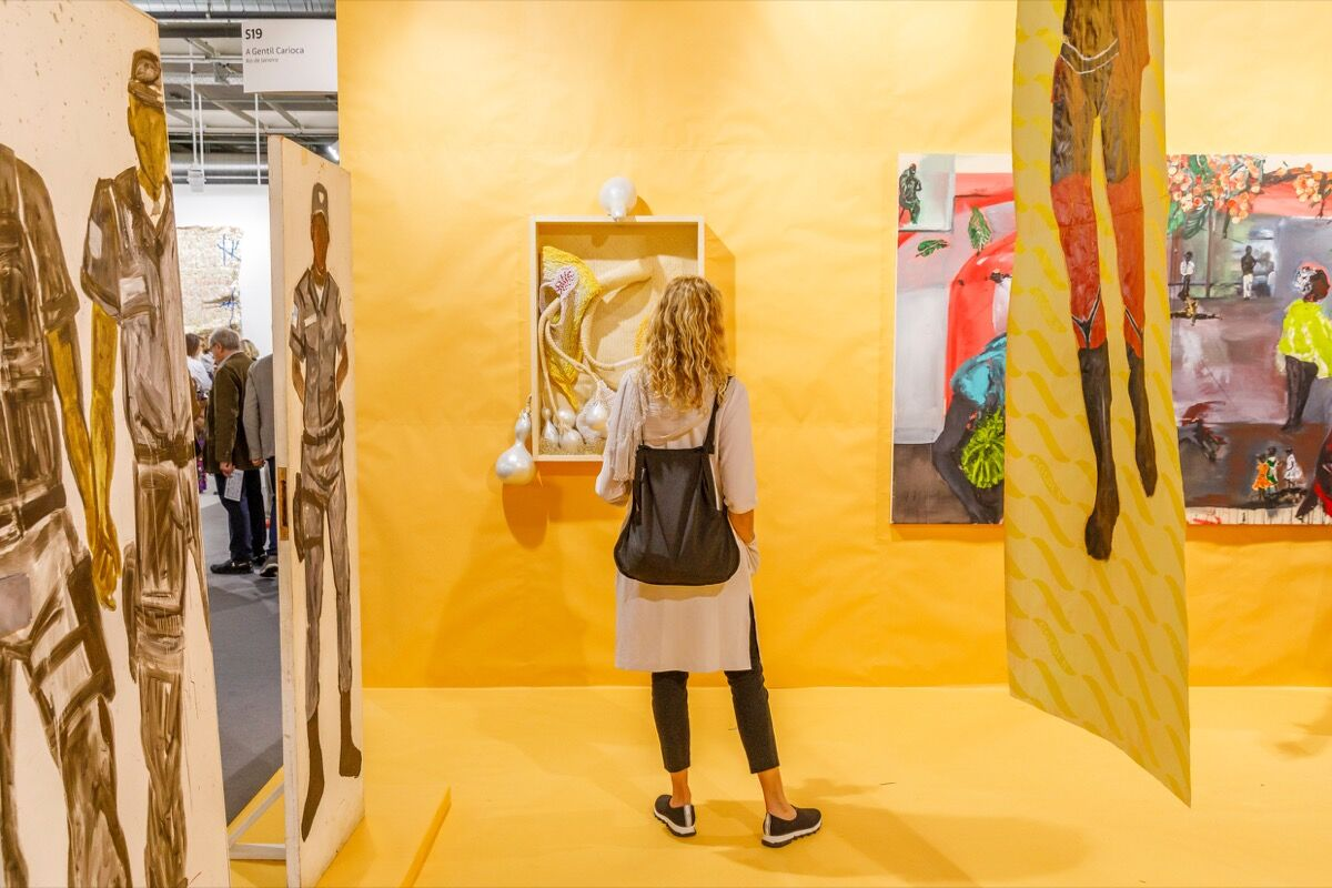 Installation view of A Gentil Carioca's booth at Art Basel, 2019. Courtesy of Art Basel.