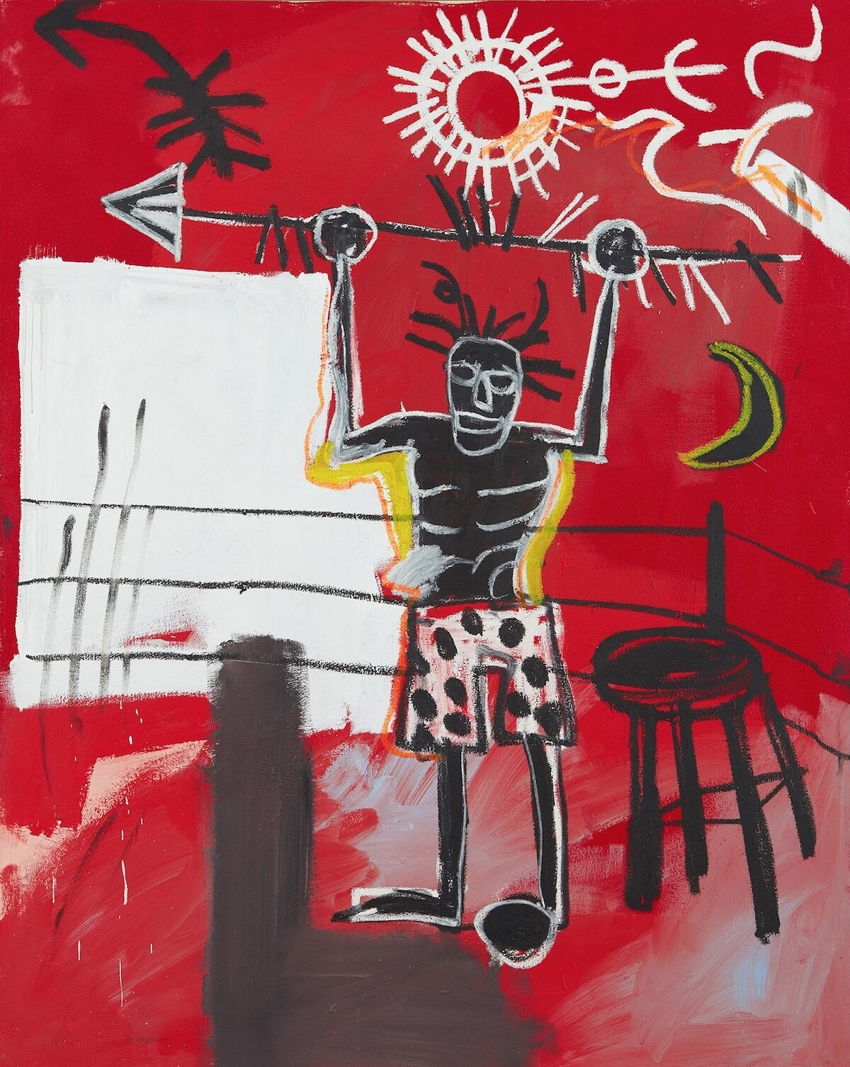 Jean-Michel Basquiat, The Ring, 1981. Sold for $15 million. Courtesy Phillips.