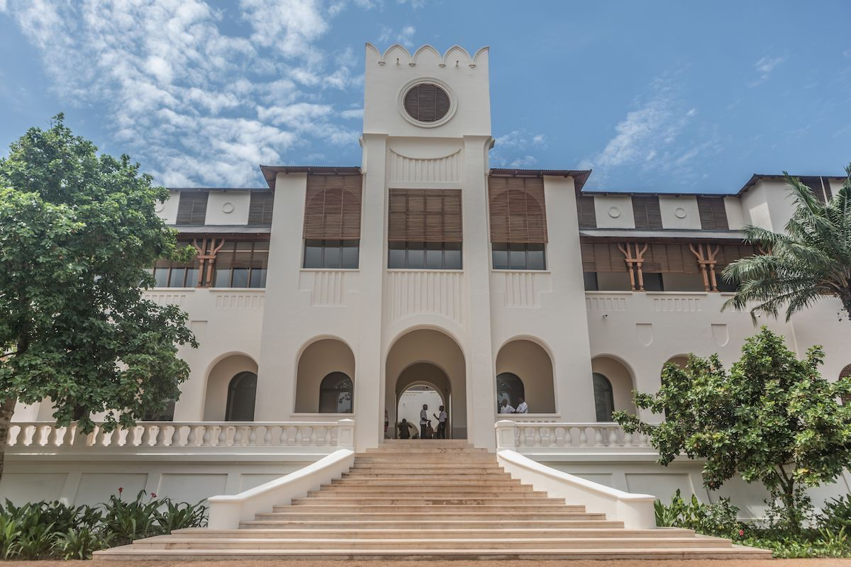 A former colonial and presidential palace, Palais de Lomé is now a contemporary art center in the Togolese capital of Lomé. Photo by Yanick Folly /AFP.