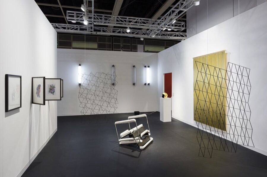 Installation view of Esther Schipper's booth at Art Basel in Hong Kong, 2017. Photo by Andrea Rossetti, courtesy of Esther Schipper.