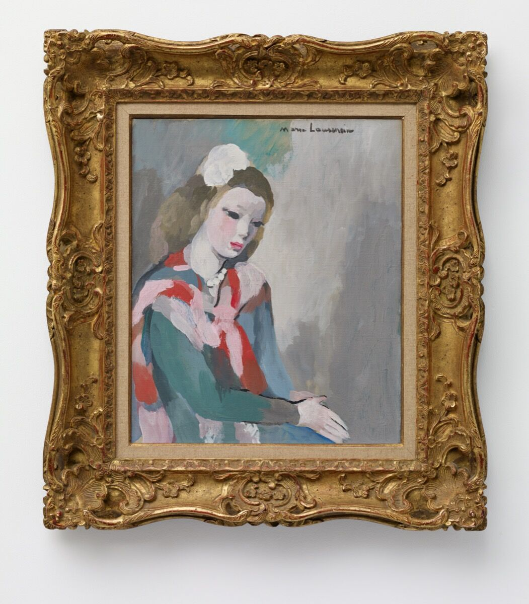 Marie Laurencin, Jeune femme aux perles, n.d. © 2020 Artists Rights Society (ARS), New York / ADAGP, Paris. Courtesy of Nahmad Projects.