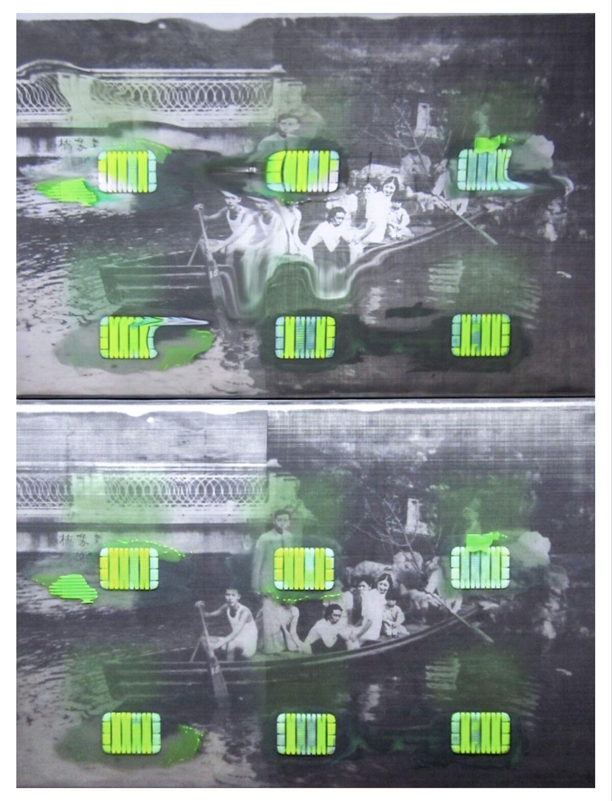 Tishan Hsu, Boating Scene (Diptych), 2016. Courtesy of Empty Gallery.