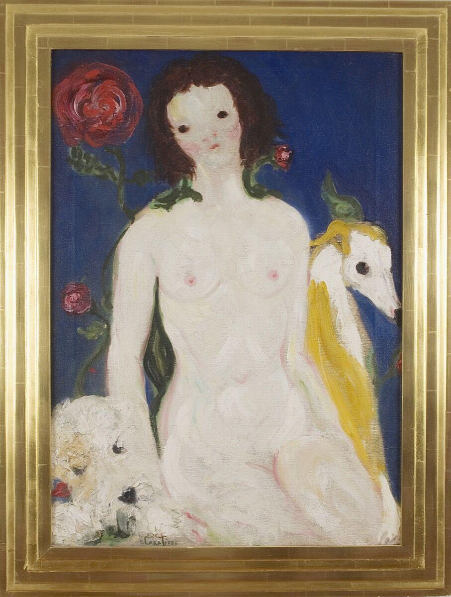 Clara Tice, Nude with Dog, n.d. Courtesy of Francis Naumann Fine Art.