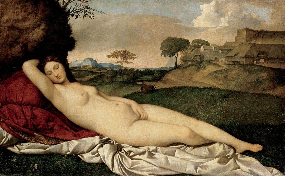 Giorgione, Sleeping Venus, ca. 1510. Image via Wikimedia Commons.