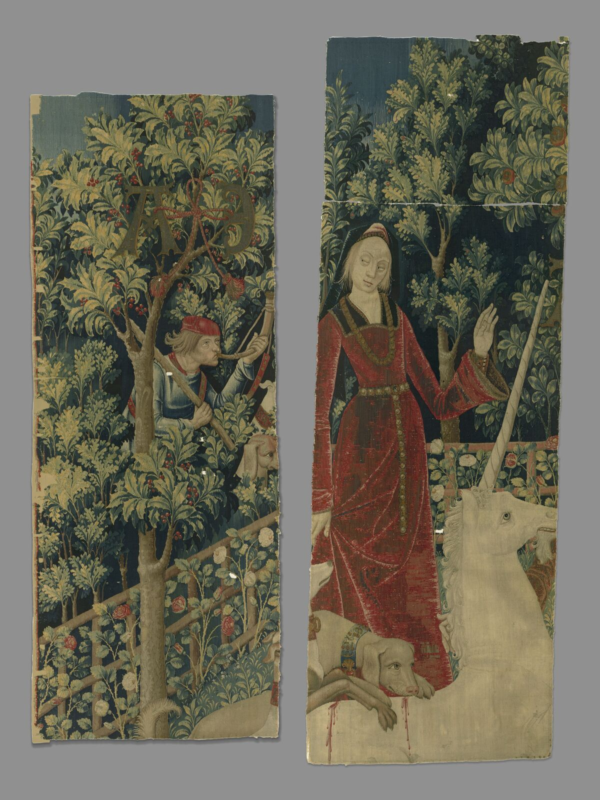 The Mystic Capture of the Unicorn (from the Unicorn Tapestries) Fragment A and Fragment B, 1495 – 1505. Gift of John D. Rockefeller Jr., 1937. Image courtesy of the Metropolitan Museum of Art.