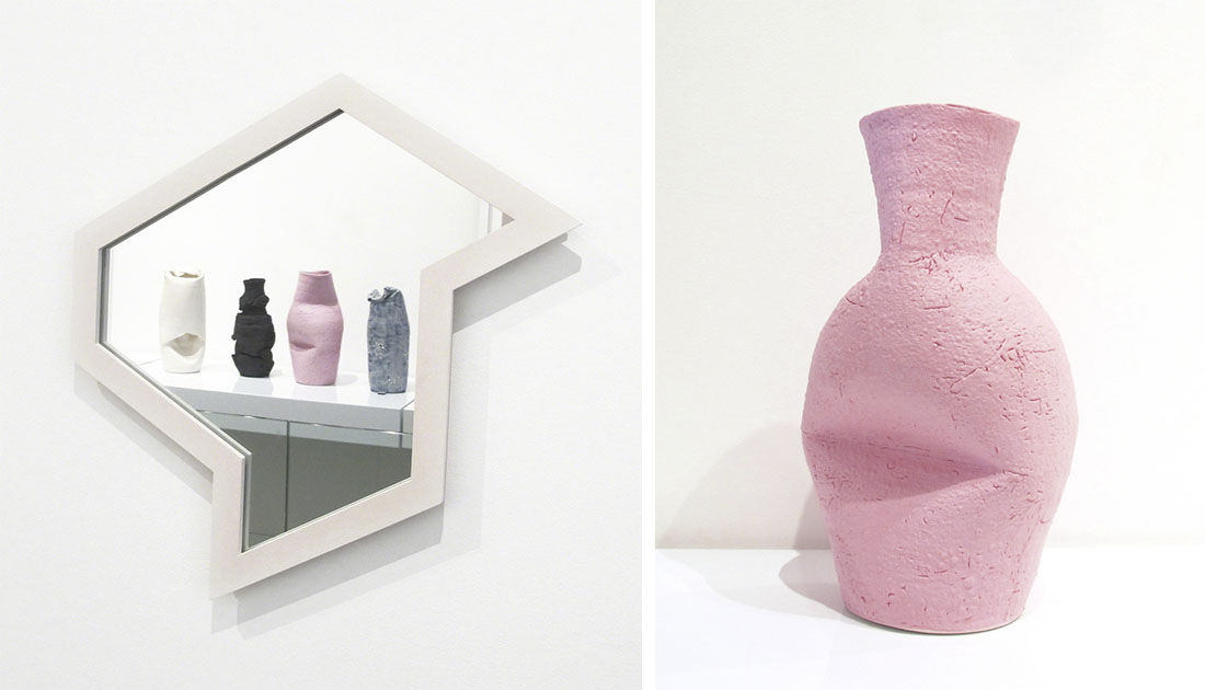 """Installation view of """"Summer Show"""" at Patrick Parrish Gallery; Cassie Griffin, glazed ceramic vase, 2015. Images courtesy of Patrick Parrish Gallery."""
