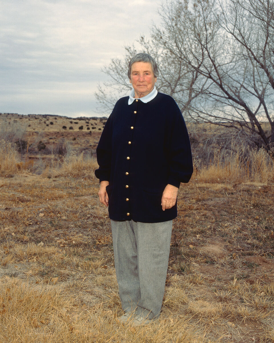 Donald Woodman, Agnes Martin in Galisteo, NM, 1988. © Donald Woodman / Artists Rights Society (ARS), New York. From the book Agnes Martin and Me,  2016. Courtesy of Donald Woodman.
