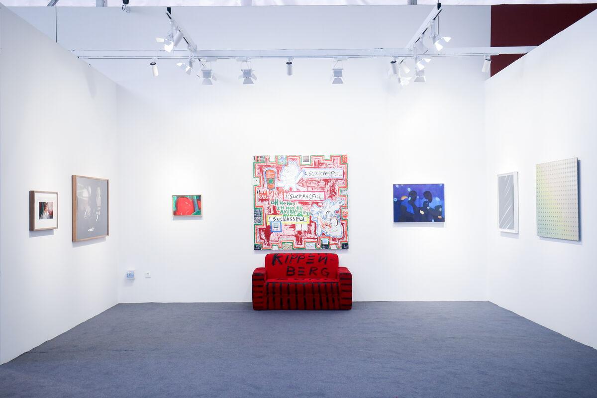 Installation view of work exhibited by AIKE (艾可画廊) at Art Chengdu, 2018. Courtesy of Art Chengdu.