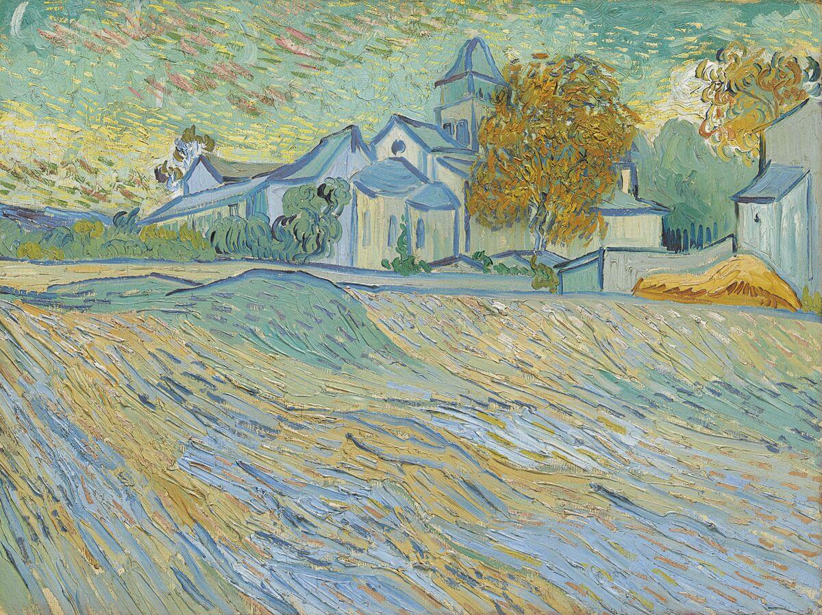 Vincent Van Gogh, Vue de l'asile et de la Chapelle Saint-Paul de Mausole (Saint-Rémy), 1889. Courtesy of Christie's.