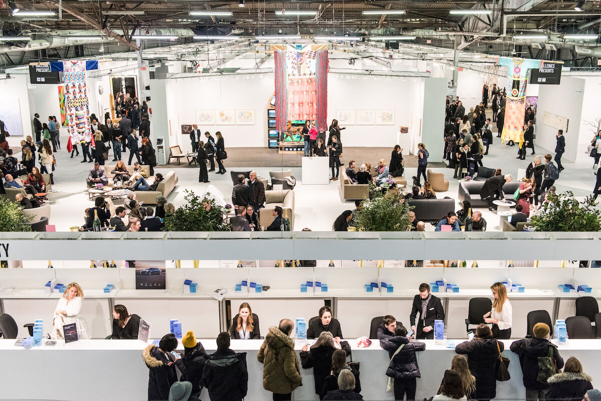 The 2018 edition of The Armory Show on Pier 94. Photo by Teddy Wolff, courtesy The Armory SHow.