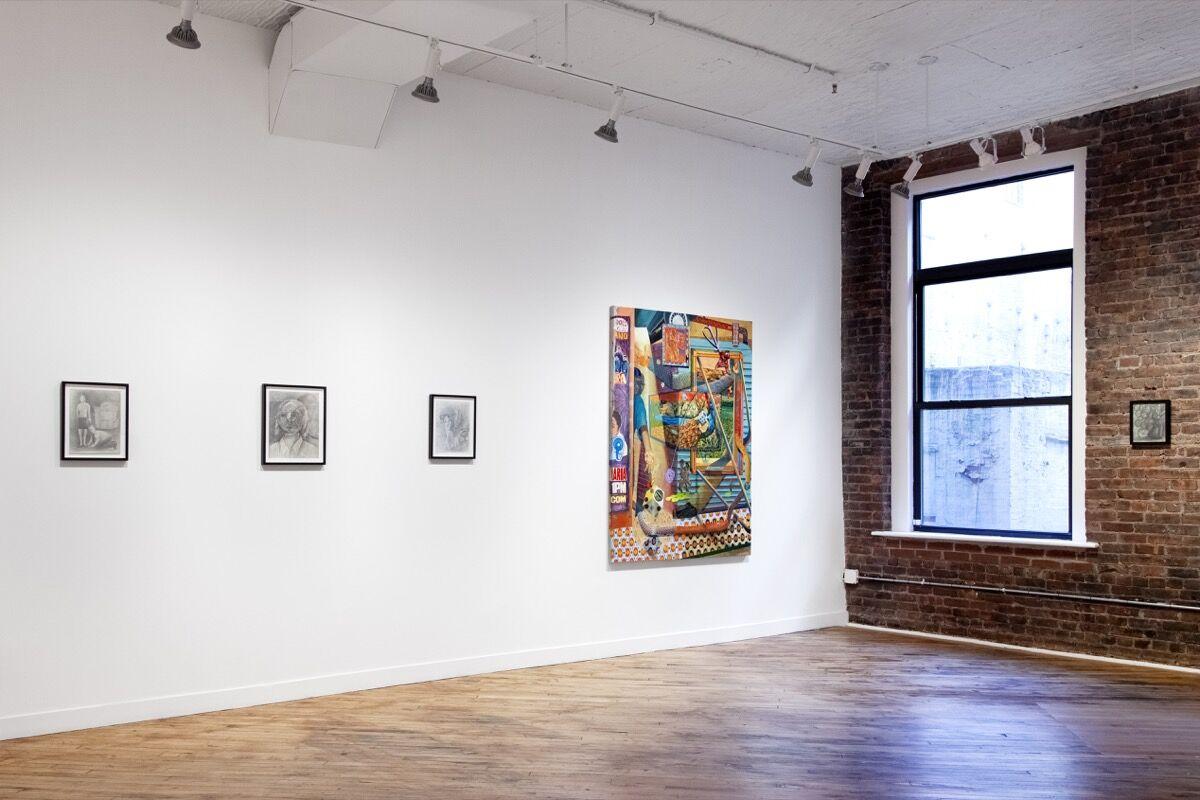 "Installation view of ""Alleviators"" at Charles Moffett, New York, 2018. Photo by Bridget Casey. Courtesy of Charles Moffett, New York."