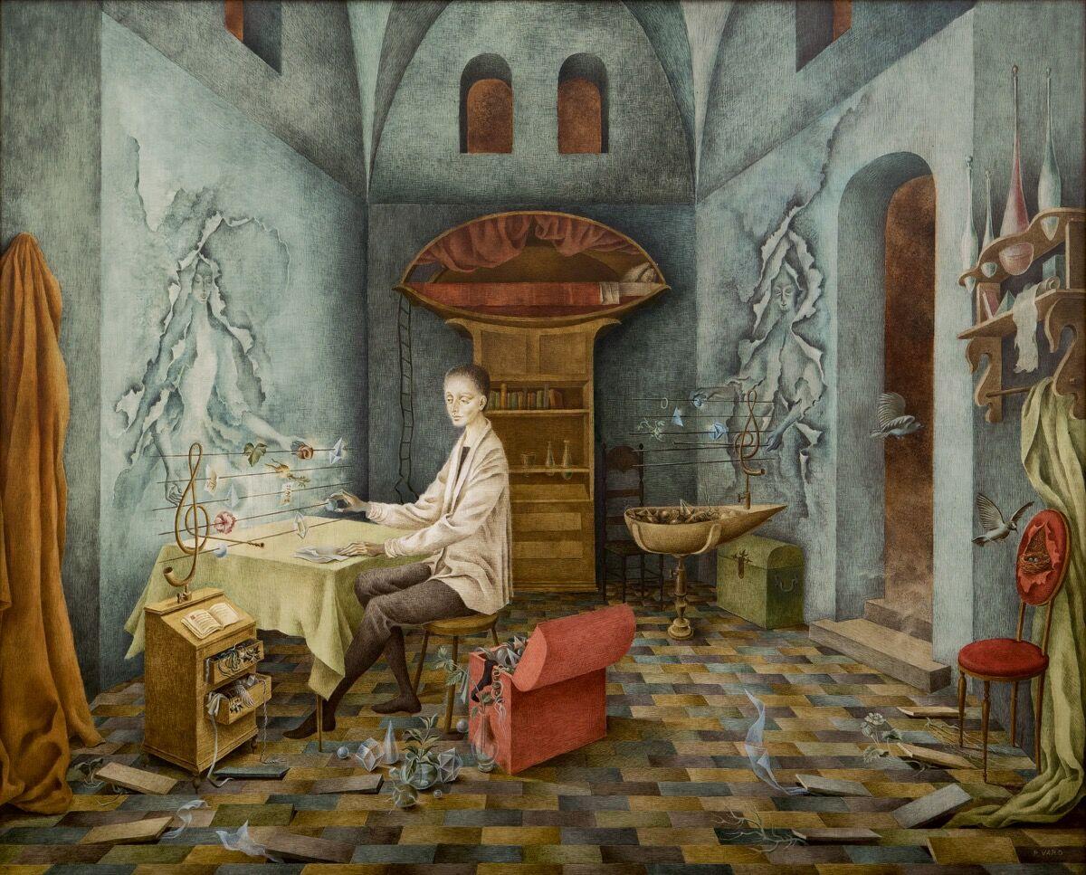 Remedios Varo, Armonía (Autorretrato sugerente), 1956. Courtesy of Sotheby's.