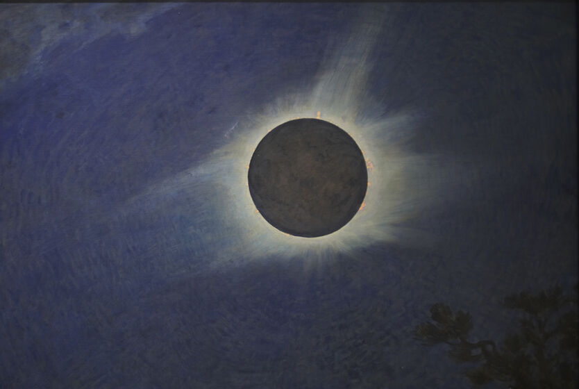 Howard Russell Butler, Solar Eclipse, 1925. Courtesy of Princeton University, gift of H. Russell Butler Jr..