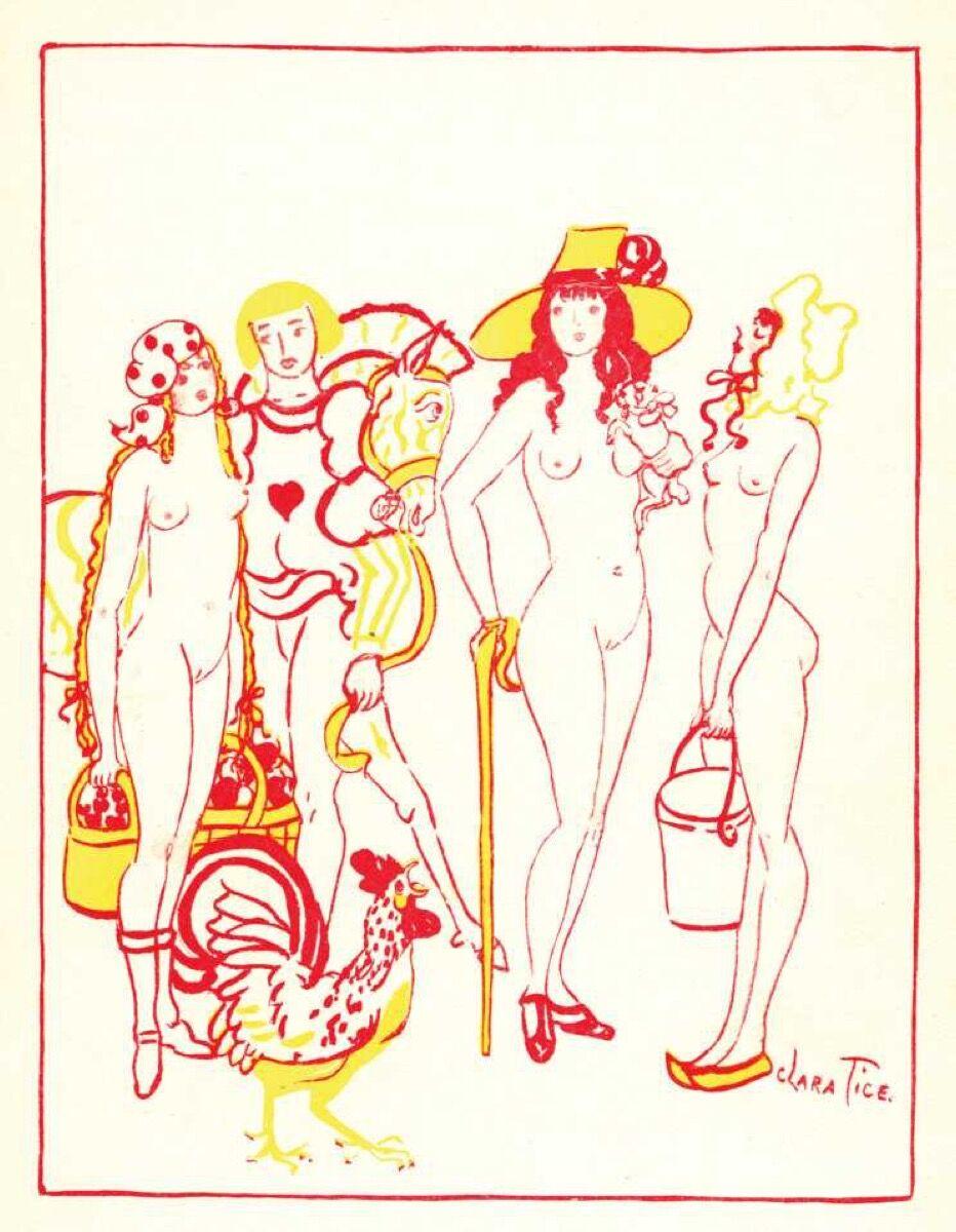 Clara Tice, from The Adventures of King Pausole series (1926). Image via Honest Erotica.