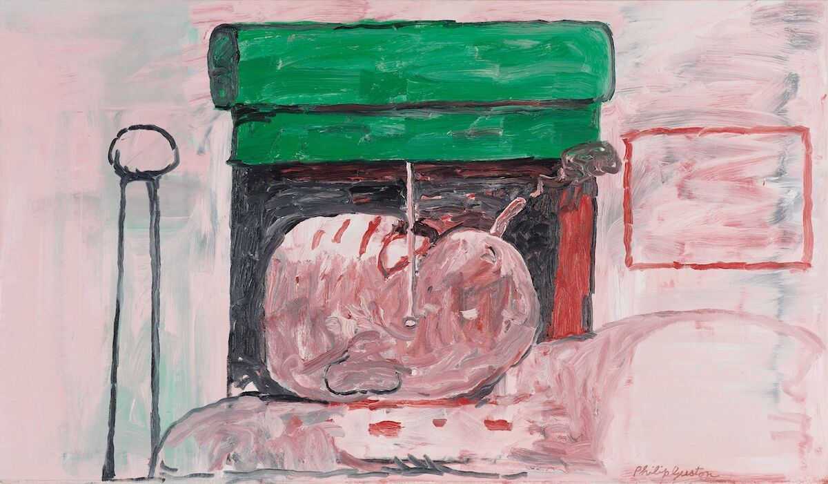 Philip Guston, Smoking II, 1973. Sold for $7.6 million. Courtesy Phillips.