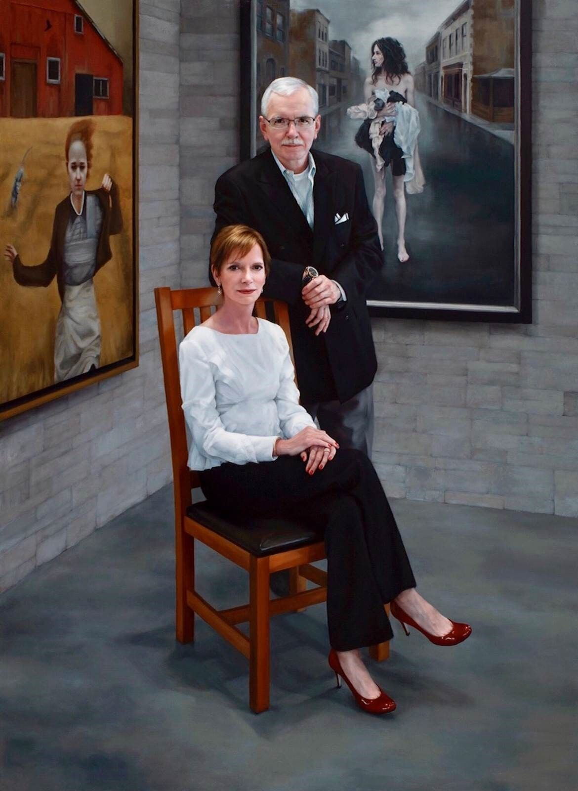 Katie O'Hagan, Portrait of the Collectors, 2016. Courtesy of The Bennett Prize.