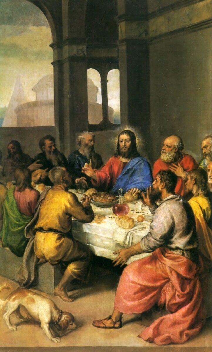 Tiziano Vecellio, Last Supper, c. 1542–44. Image via Wikimedia Commons.