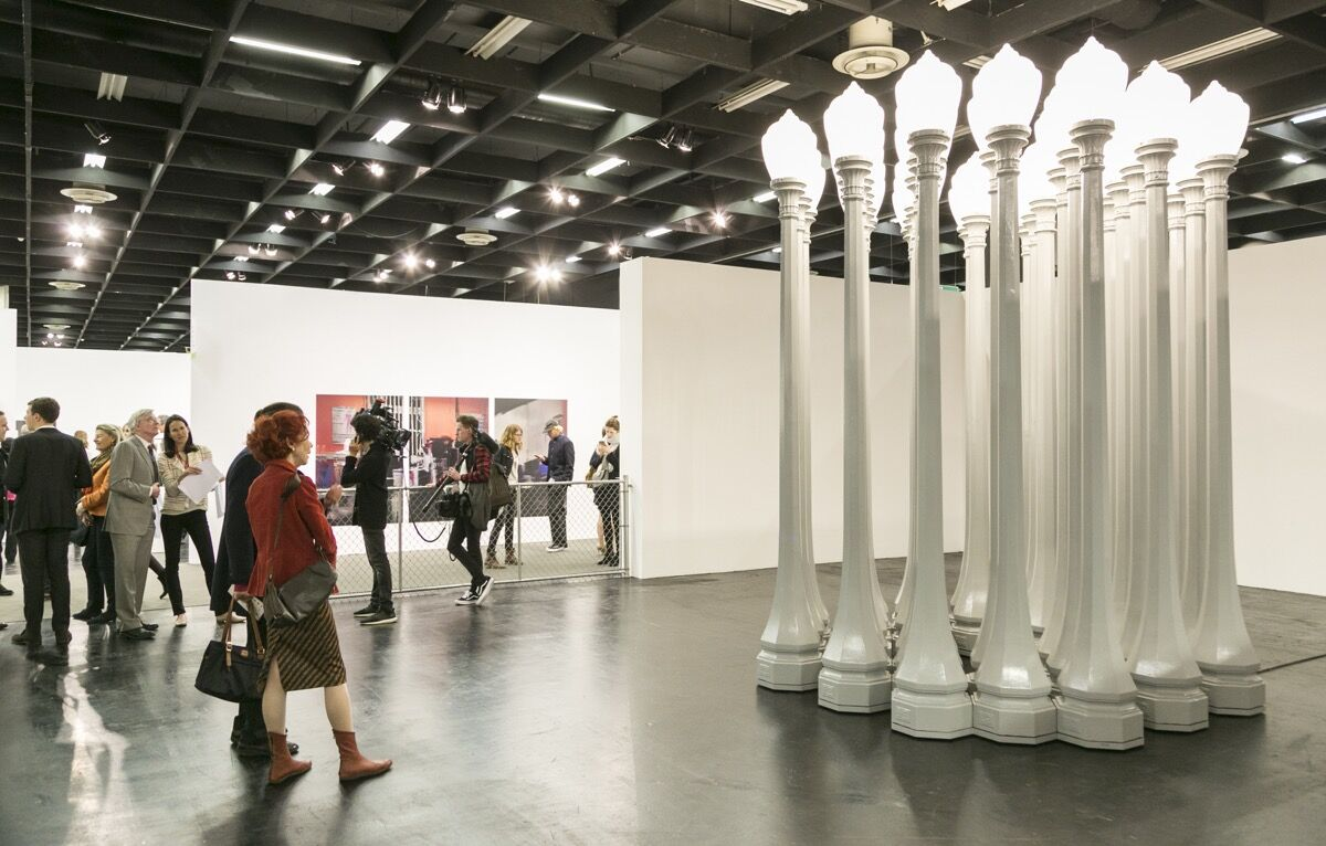 Installation view of Gagosian's booth at Art Cologne, 2017. Courtesy of Art Cologne.