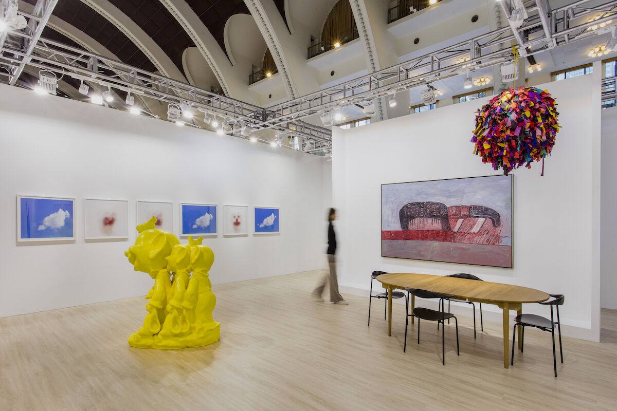 Installation view of Hauser & Wirth's booth at Art021, 2018. Courtesy of Hauser & Wirth.