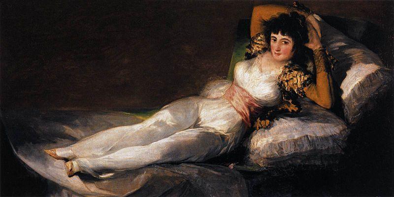 Francisco de Goya, The Clothed Maja, 1800-1808. Photo via Wikimedia Commons.