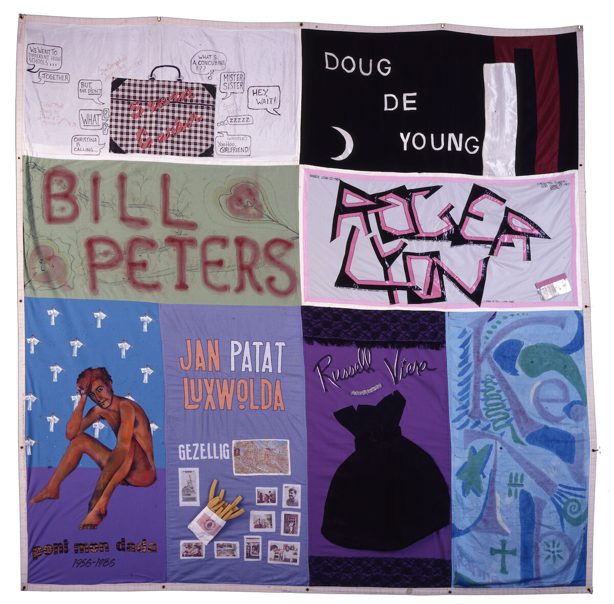 Names Project Foundation, AIDS Memorial Quilt, Block 001, 1987. Courtesy of the NAMES Project Foundation.