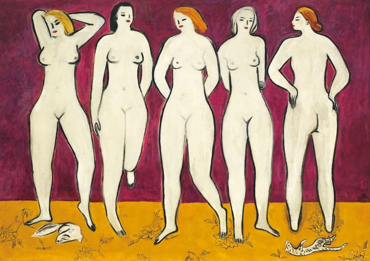 Sanyu, Five Nudes, ca. 1955. Est. in excess of HK$250 million (US$33 million). Courtesy Christie's Images Ltd.