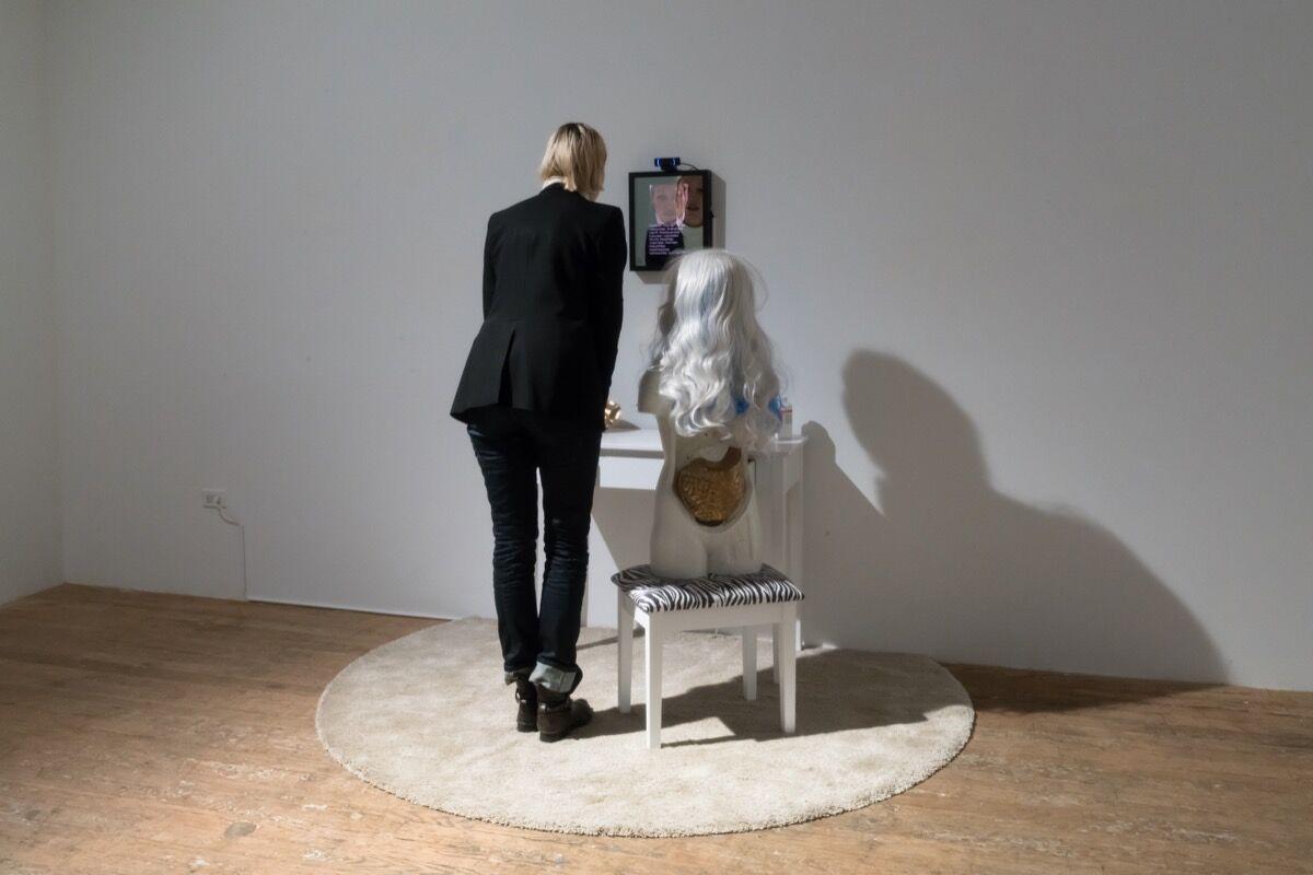 "Installation view of ""Lynn Hershman Leeson: Remote Controls."" Photo byJason Mandella.Courtesy of Bridget Donahue."