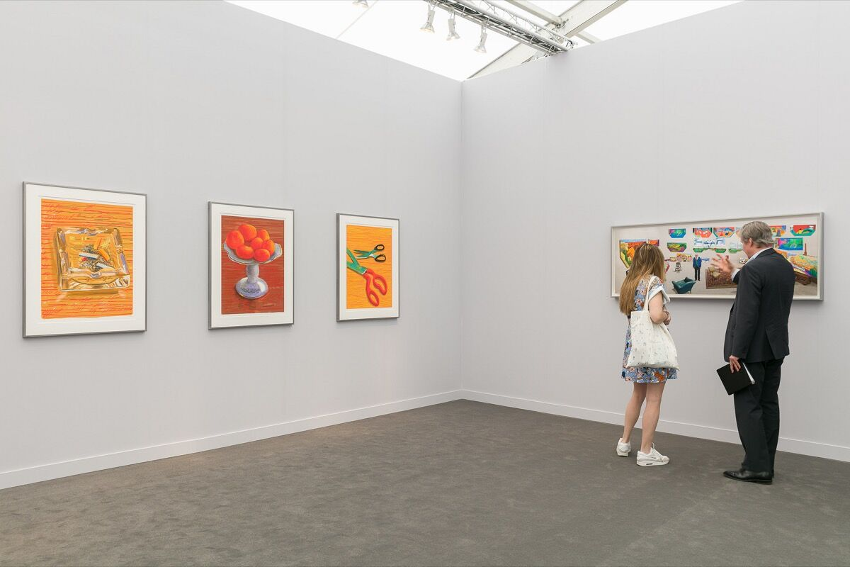 Installation view of Pace Gallery's booth at Frieze New York, 2018. Photo by Mark Blower. Courtesy of Mark Blower/Frieze.