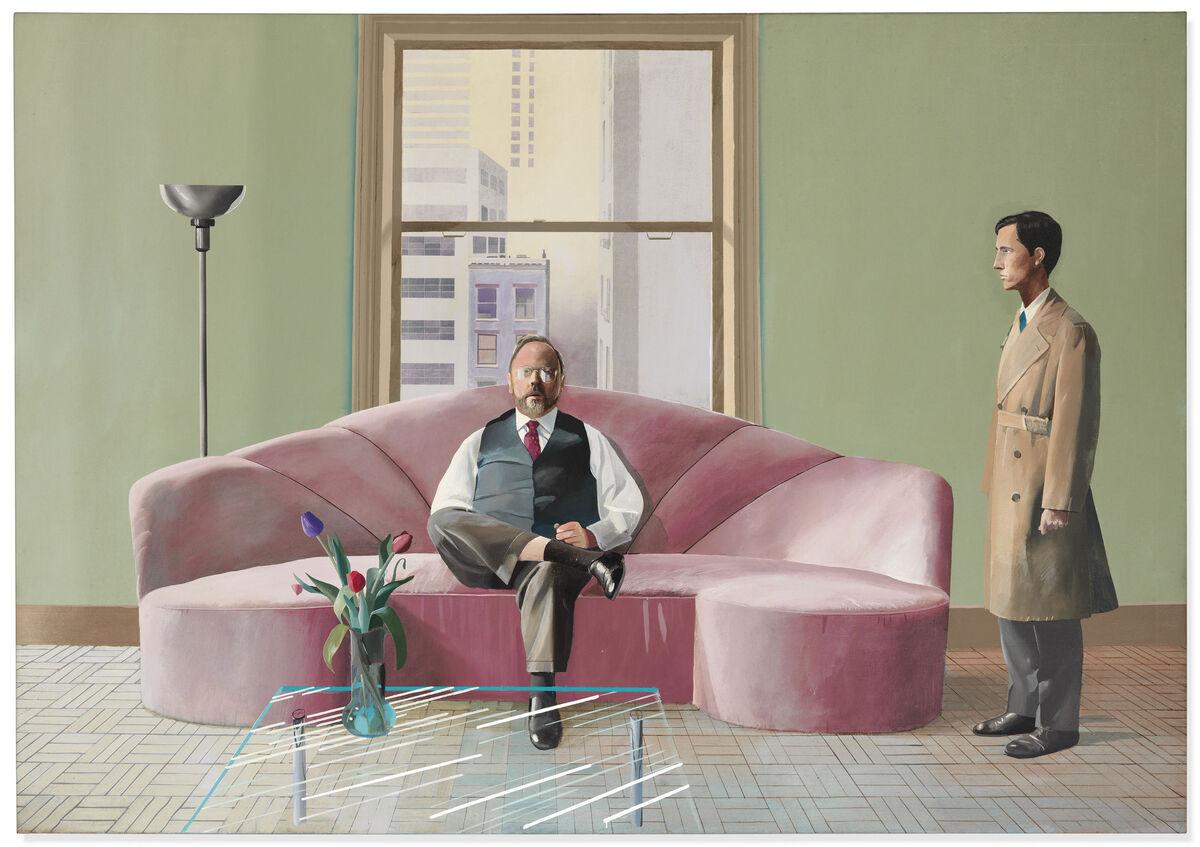 David Hockney, Henry Geldzahler and Christopher Scott, 1969. Courtesy of Christie's Images Ltd. 2019.